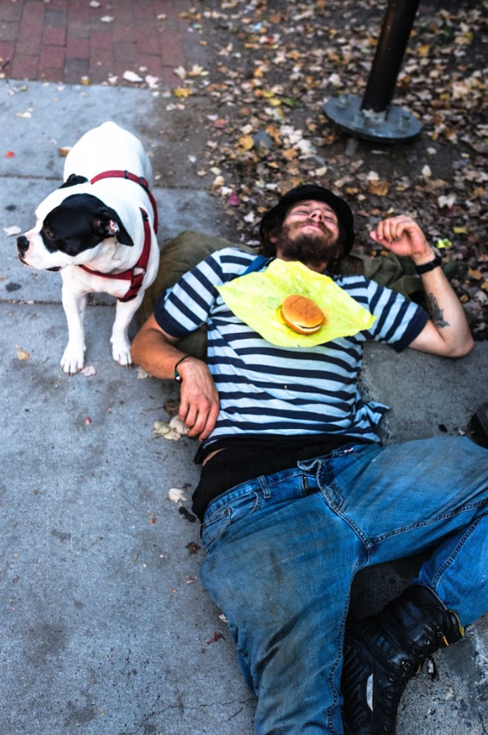 Dining-with-Dog-Underneath-Asheville-homeless-AVLtoday