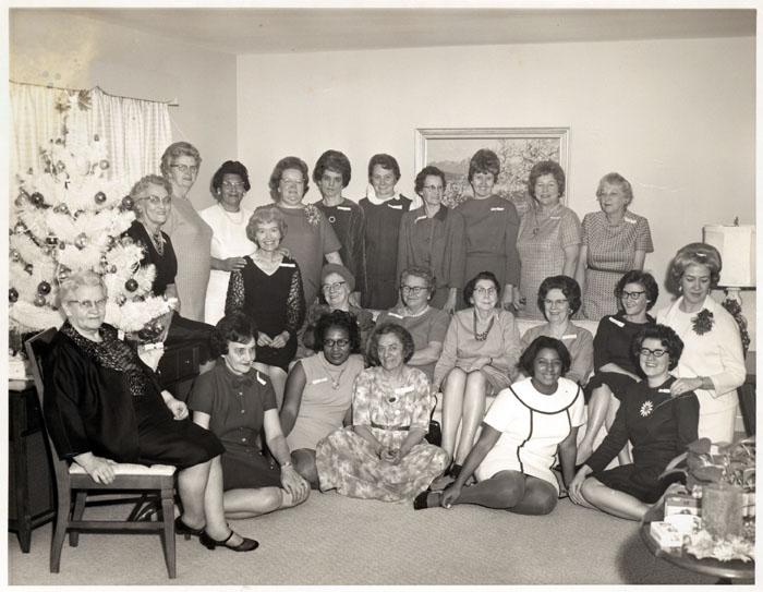 Practical nurses Christmas party, 1960s | Photo via NC Collection, Pack Memorial Library